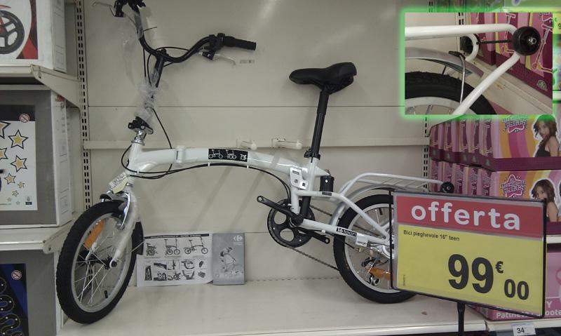 Bici Pieghevole Decathlon B Fold.Richiamo Carrefour 16 Teen